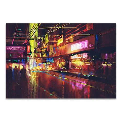 Illumination Night Life Canvas Print