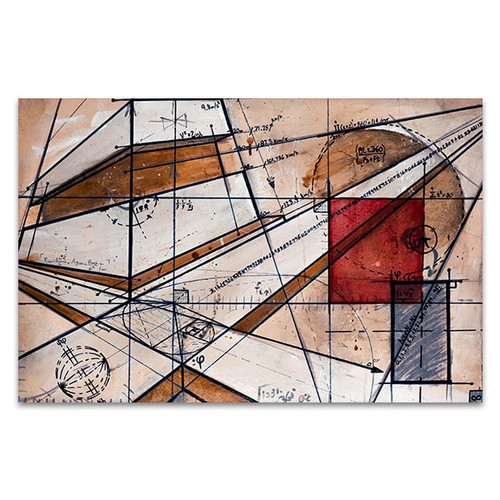 Math Code Canvas Art Print