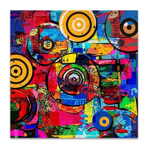 Round Colors Canvas Art Print