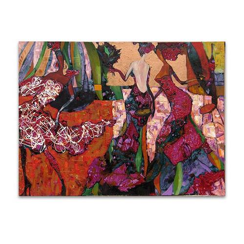 Women In Gowns Canvas Art Print