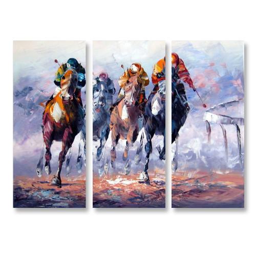 Horse Race - 3panels