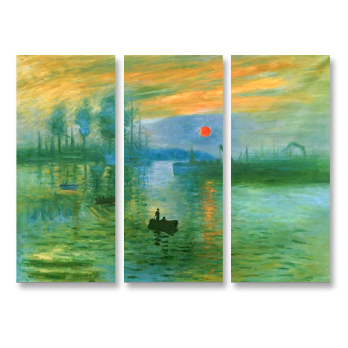 Impressionist Sunrise - 3panels