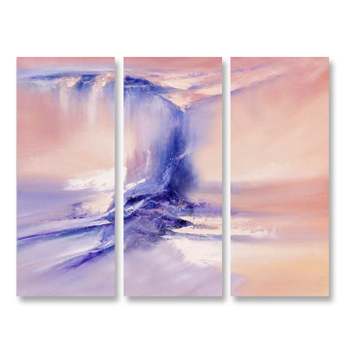 Wave in Sunset - 3panels