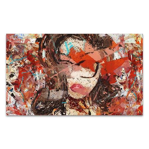 Broken Face Wall Art Print