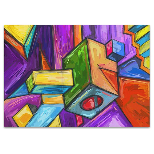 Cubic Dream Canvas Art Print