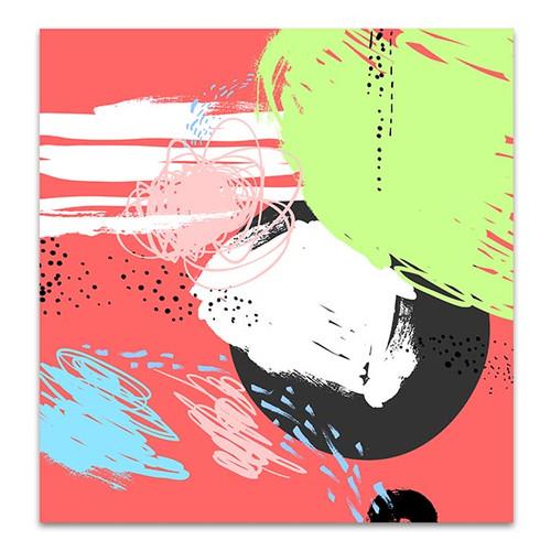 Overlay Pastel Colors Art Print