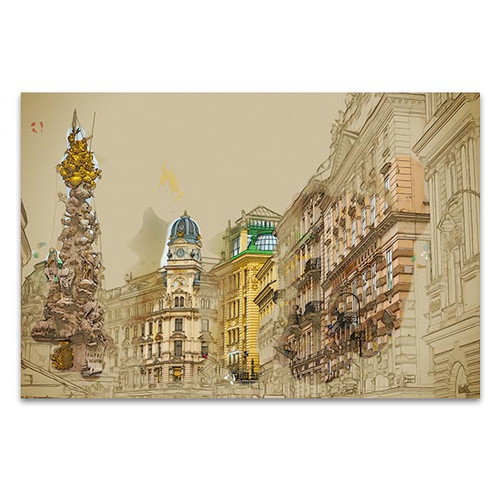 Pestsaule in Vienna Canvas Art Print