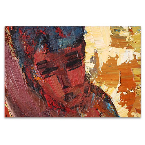 Woman in Nude Colors Art Print