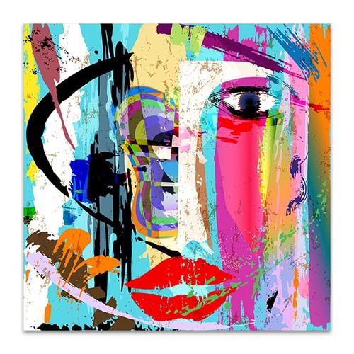 Worried Face Woman Art Print