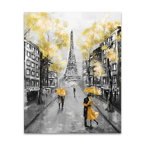 Couple on Streets of Paris Art Print