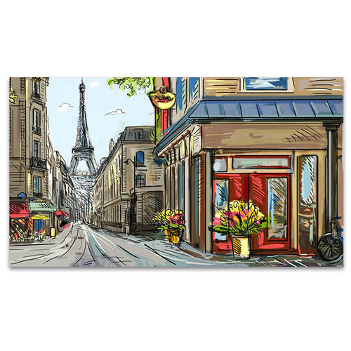 Downtown Streets of Paris Art Print