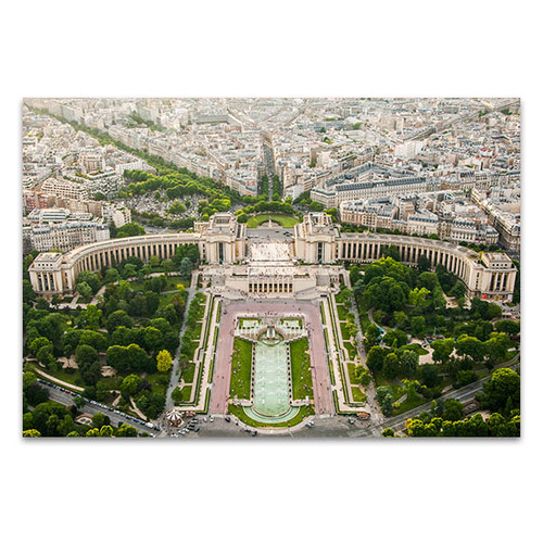 Eiffel Tower Top Paris View Art Print