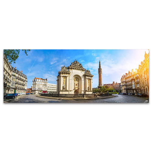 French City Lille with Belfry Art Print