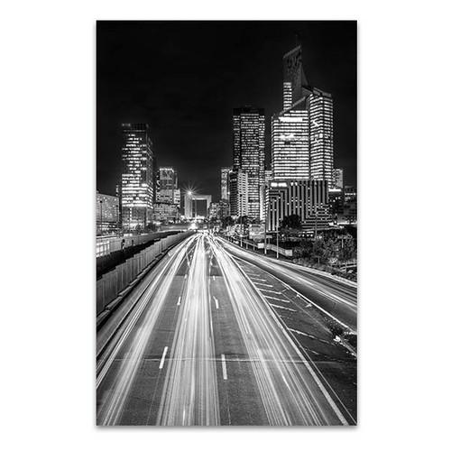 La Defense Financial District at Night Art Print