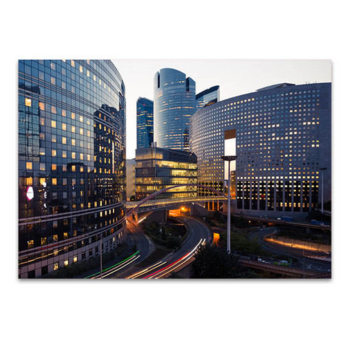 Paris Business District Art Print