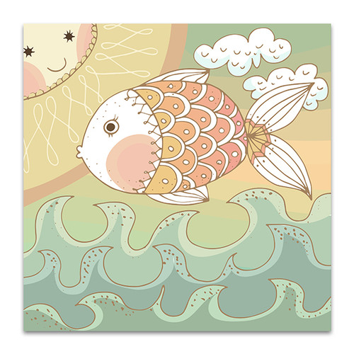 Colorfully Fish Canvas Art Print