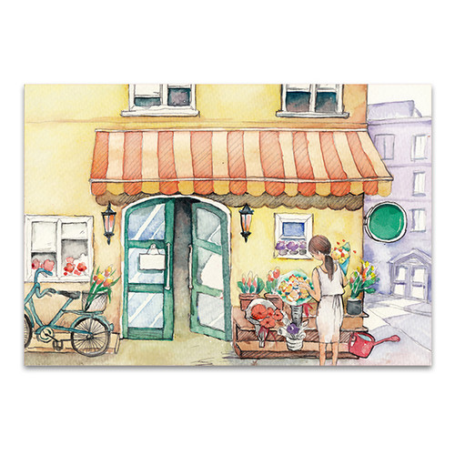 Flower Shop Wall Art Print