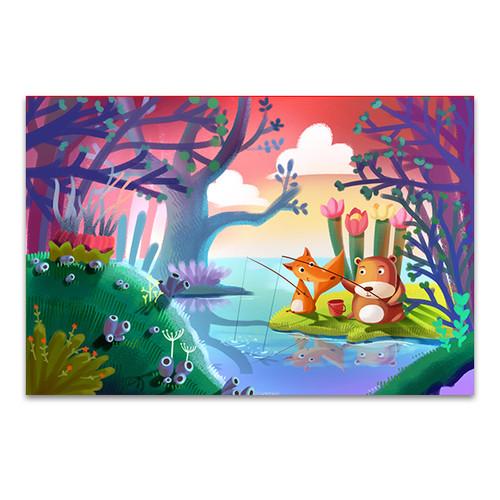 Good Friends Fishing Art Print