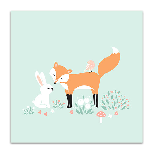 Rabbit And The Fox Art Print