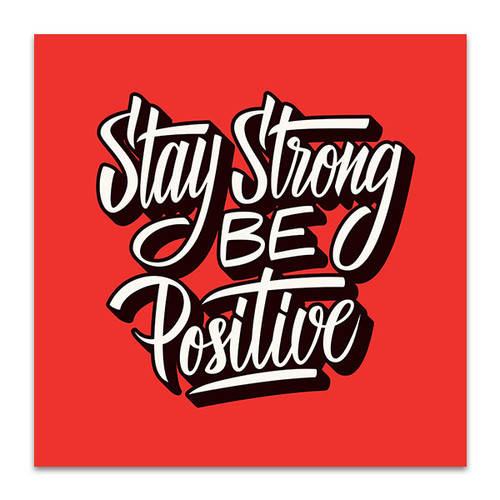 Be Positive Wall Art Print
