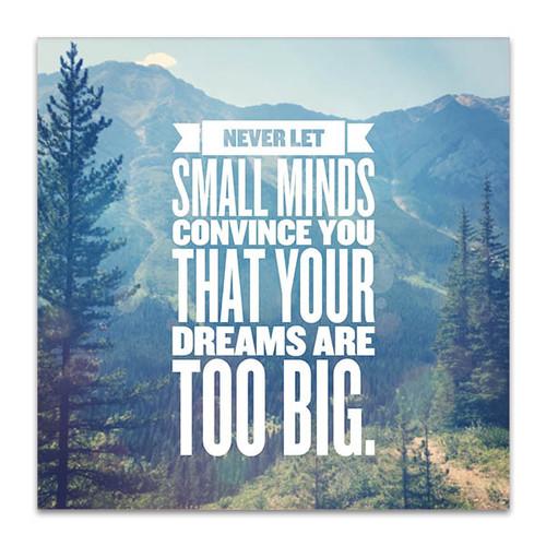 Small Minds Dream Big Art Print