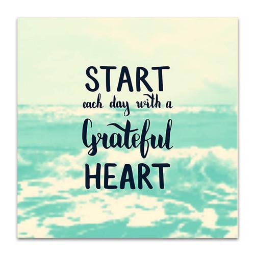 Start Day Grateful Art Print