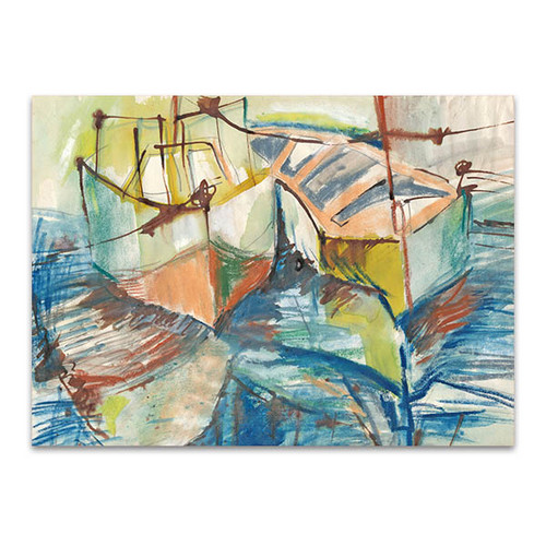 Boats at Port Art Print