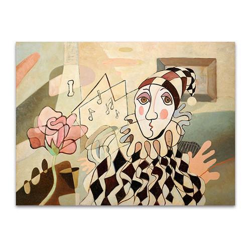 Harlequin and Rose Art Print