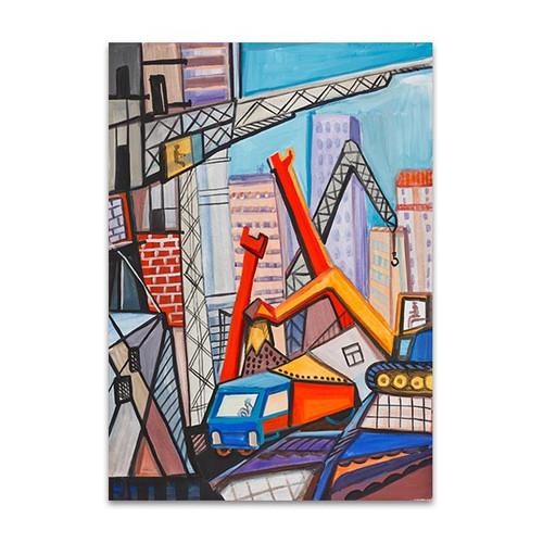 Large Buildings Art Print