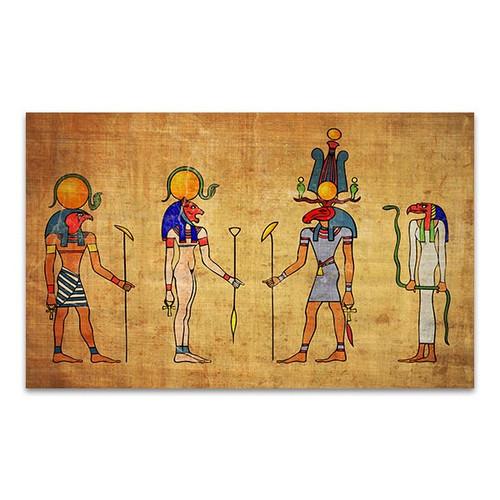 Four Egyptian Gods Canvas Print