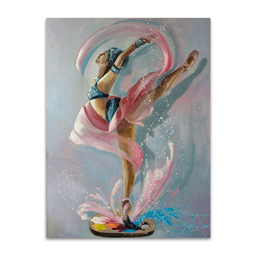 Colourful Splash Art Print