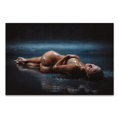 Girl on the Rain Art Print