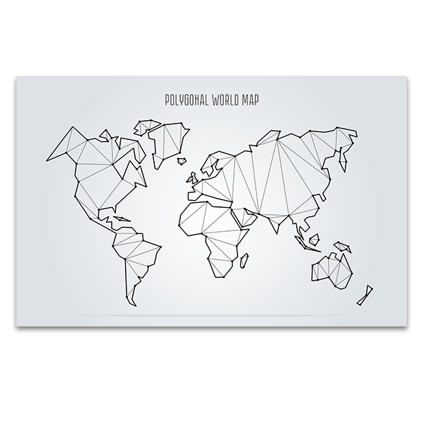 Abstract World Map Canvas Print In Interior Design Trends