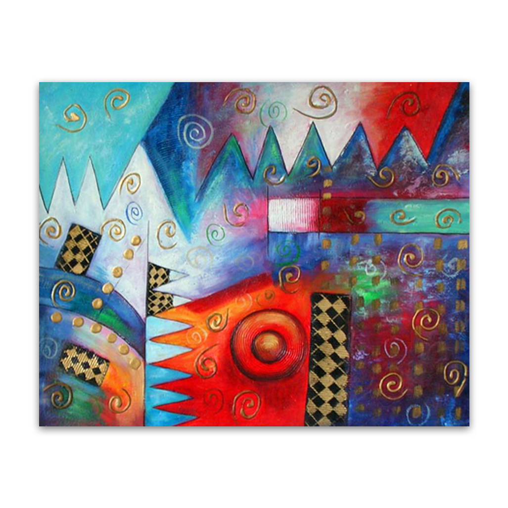 94fe90a4707 ... Blue Abstract Painting Original Artwork on Canvas for Quirky Walls ·  Jigsaw