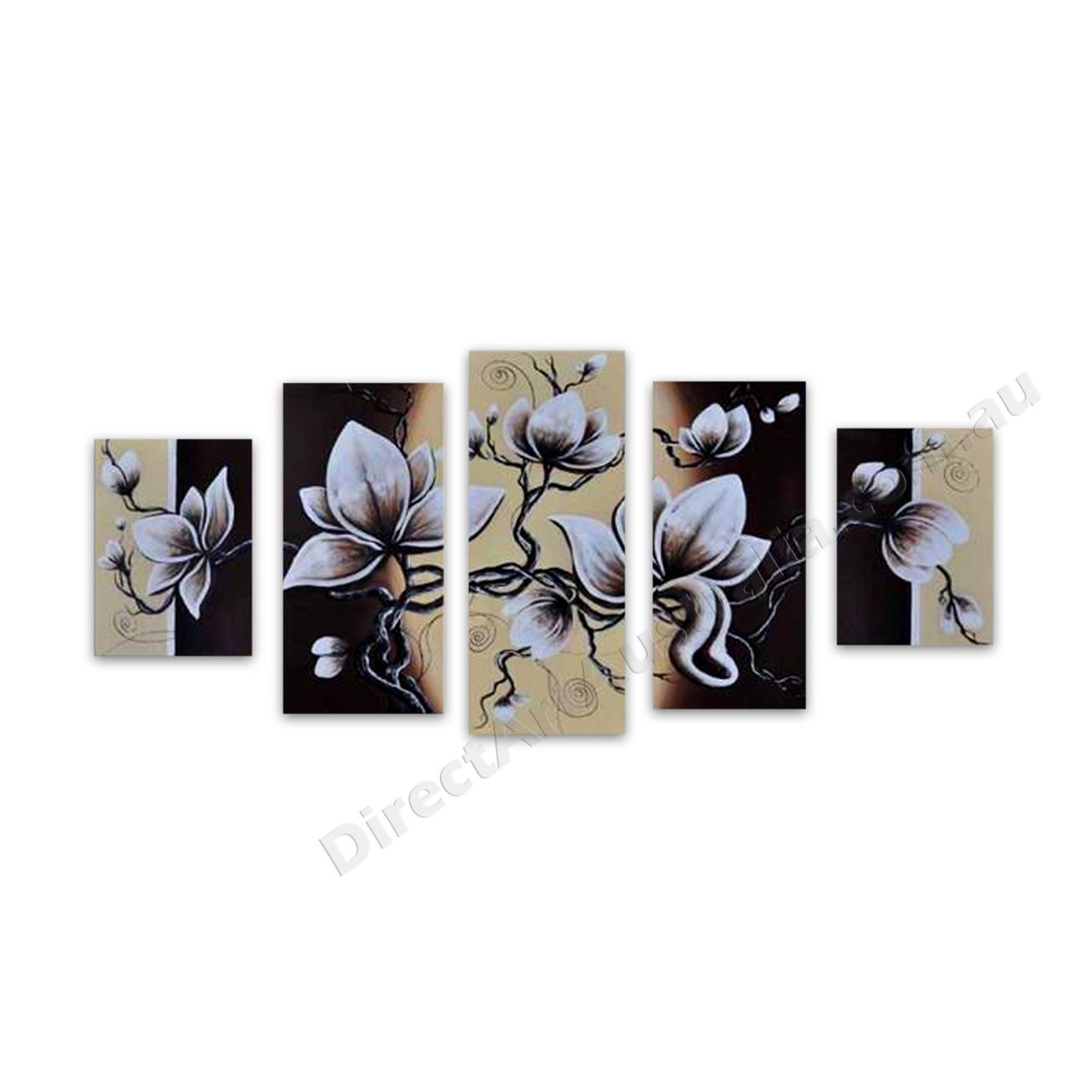 Buy White Flower Oil Painting On Canvas Online Brisbane