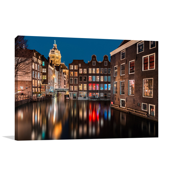 Amsterdam by Night Wall Print
