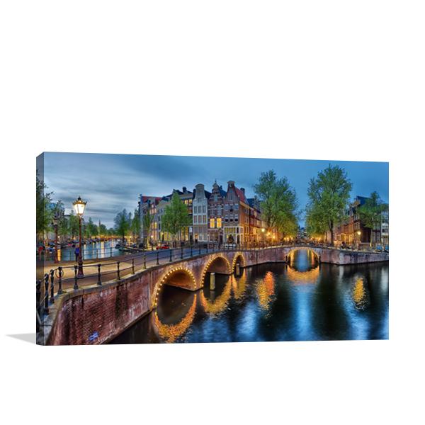 Amsterdam Canals Wall Art Print