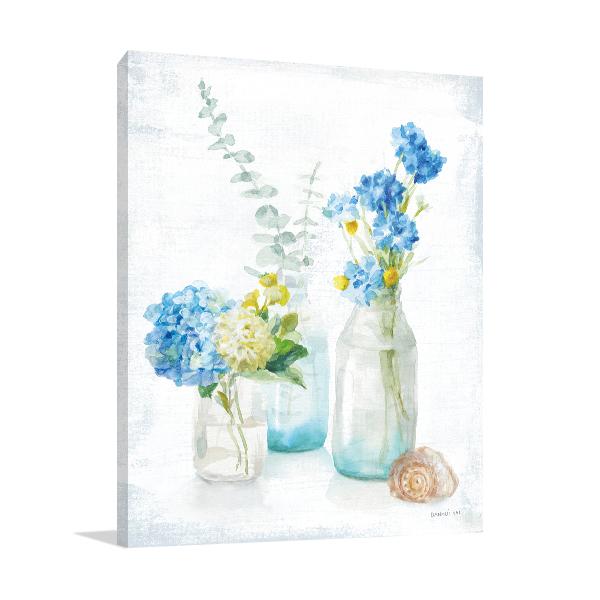Beach Cottage Florals III Wall Art Print