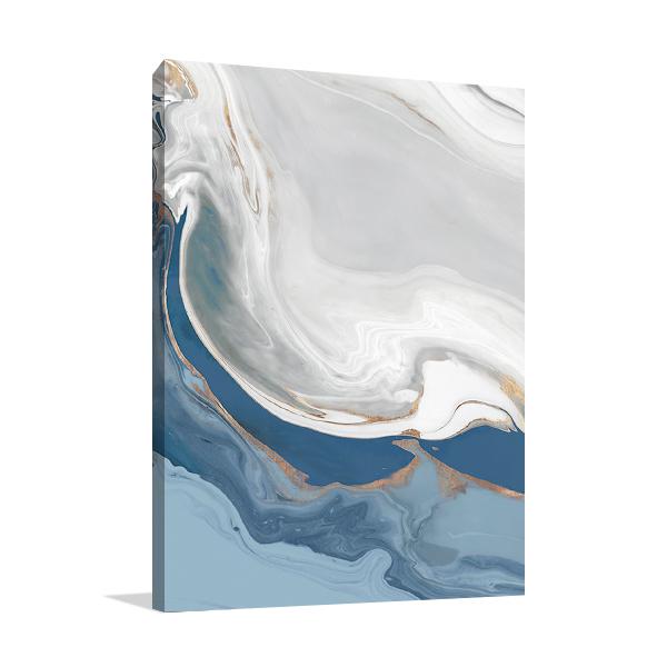 Blue Velour I Wall Art Print