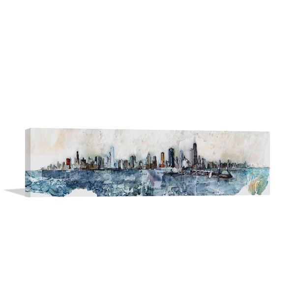 Chicago Skyline Wall Print