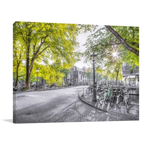 Green Amsterdam Wall Art Print