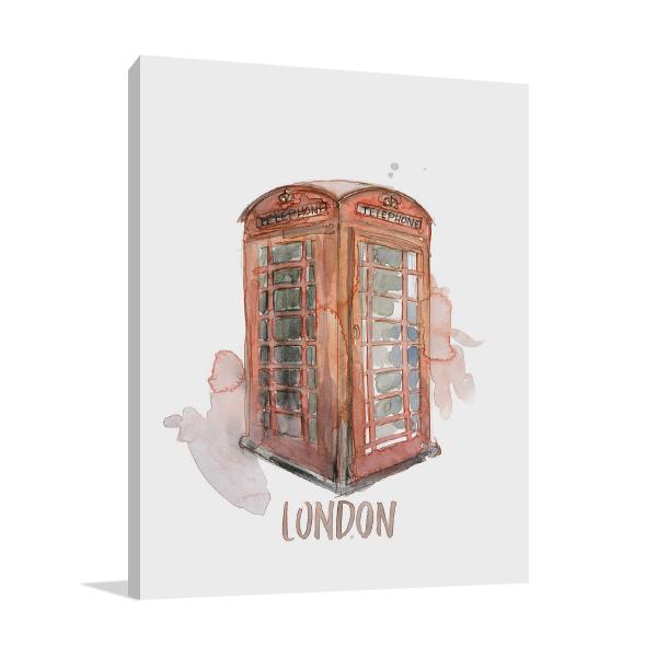 London Booth Wall Art Print