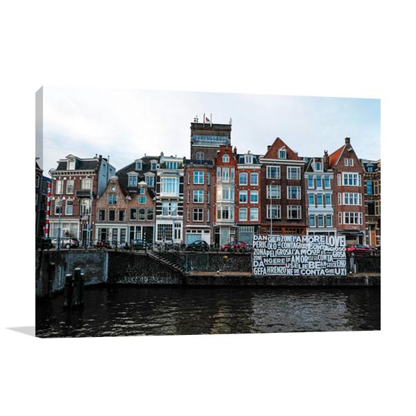 Love in Amsterdam Wall Art Print