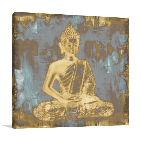 Meditating Buddha Wall Art Print