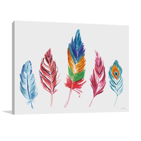 Rainbow Feathers IV Wall Art Print