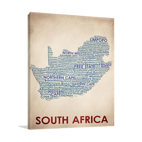 South Africa Wall Art Print