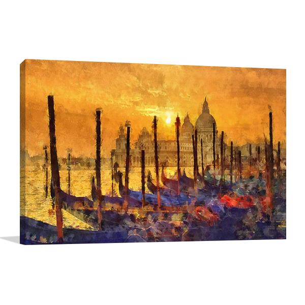 Venice at Sunset Wall Art Print