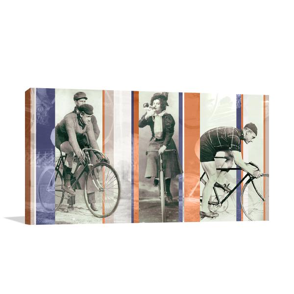Vintage Bicycling Wall Art Print