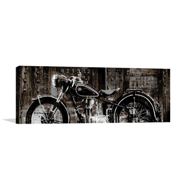 Vintage Motorcycle Wall Art Print