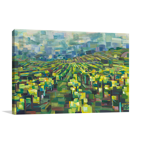Yellow Grapevines Forever Wall Art Print